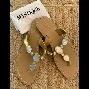 "Mystique ""Arizona"" Mother Of Pearl Sandal"